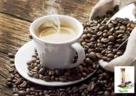 Valentus kávé csésze babkávéval.